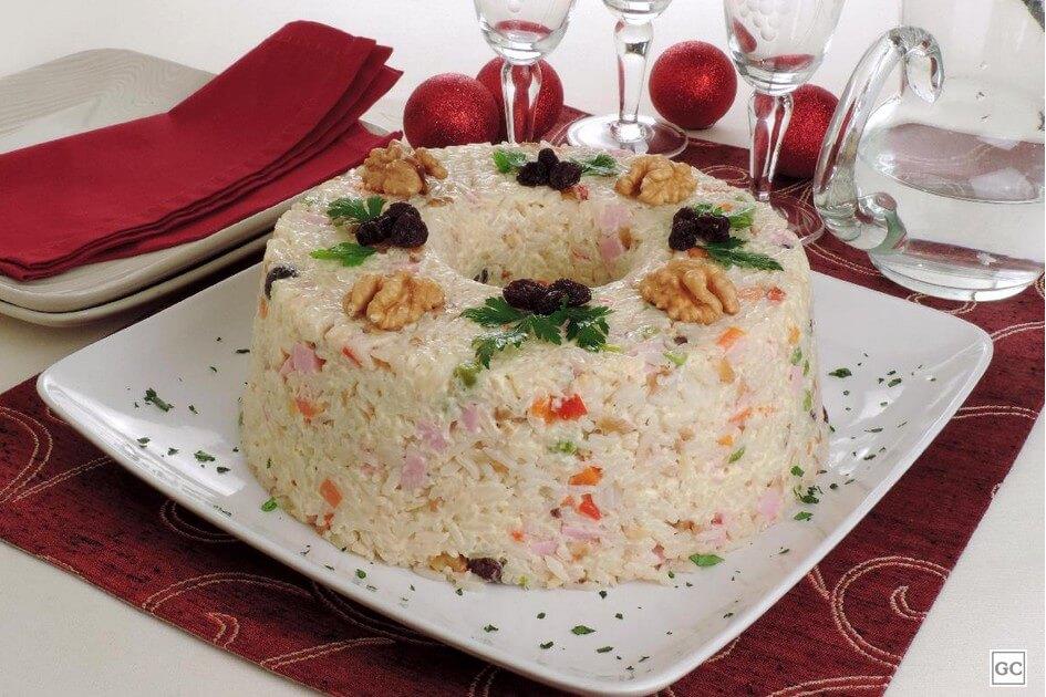 arroz à grega de Natal