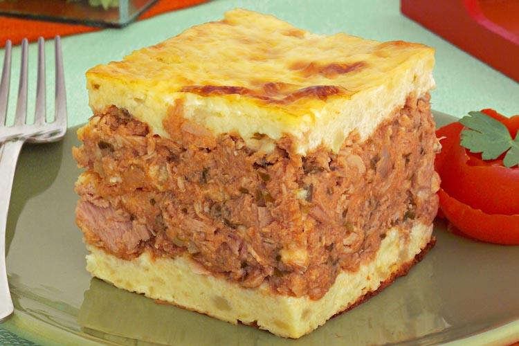 Torta de atum com batata