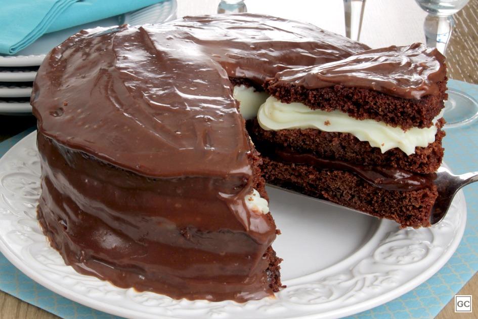 Dia do Chocolate - Bolo puro chocolate