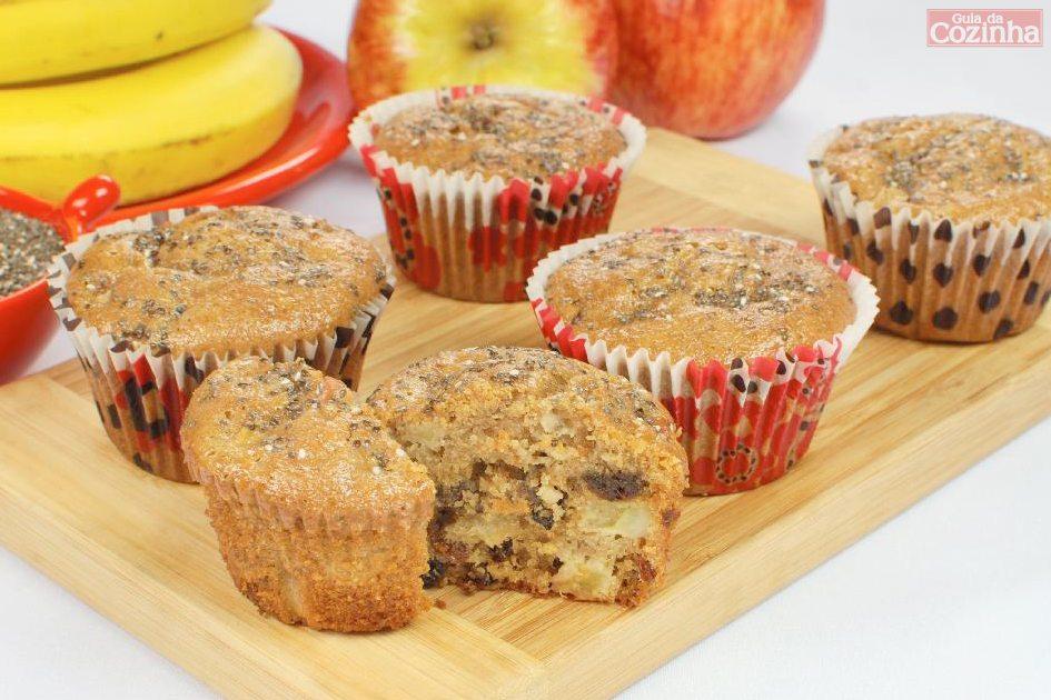 Muffin de banana e maçã
