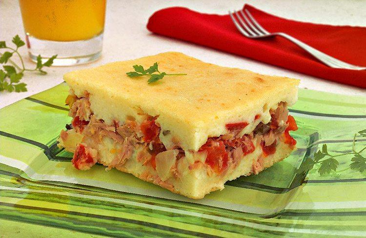 Torta de atum e arroz