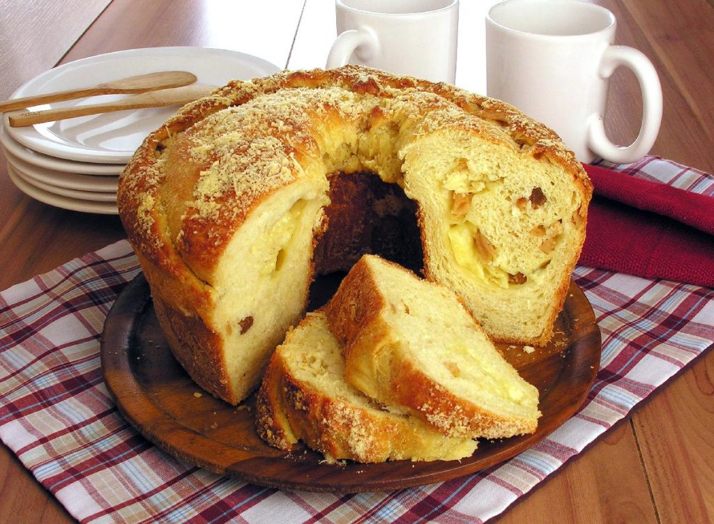 receitas de pão de torresmo