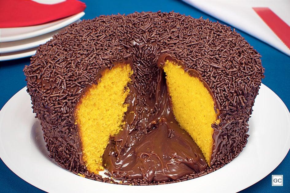 receitas de bolo vulcão