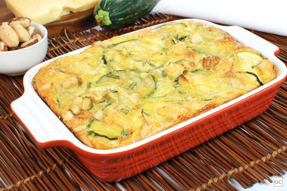 receitas saudáveis com abobrinha - omelete de forno com abobrinha