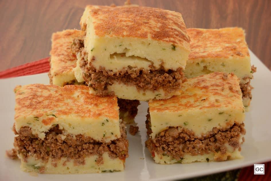 receitas de torta de liquidificador - torta de carne moída e bacon
