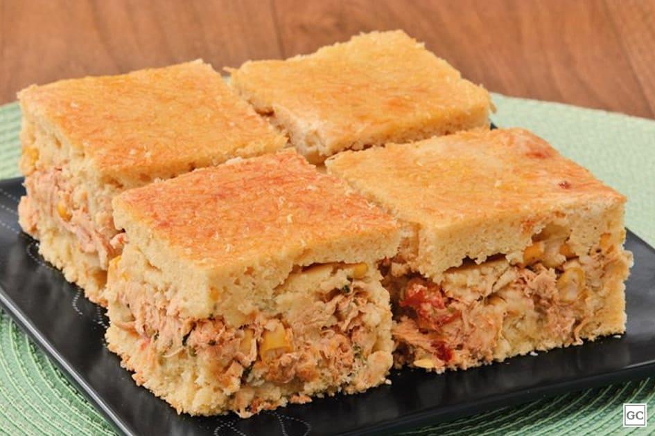 receitas de torta de liquidificador - torta de grango e milho cremosa