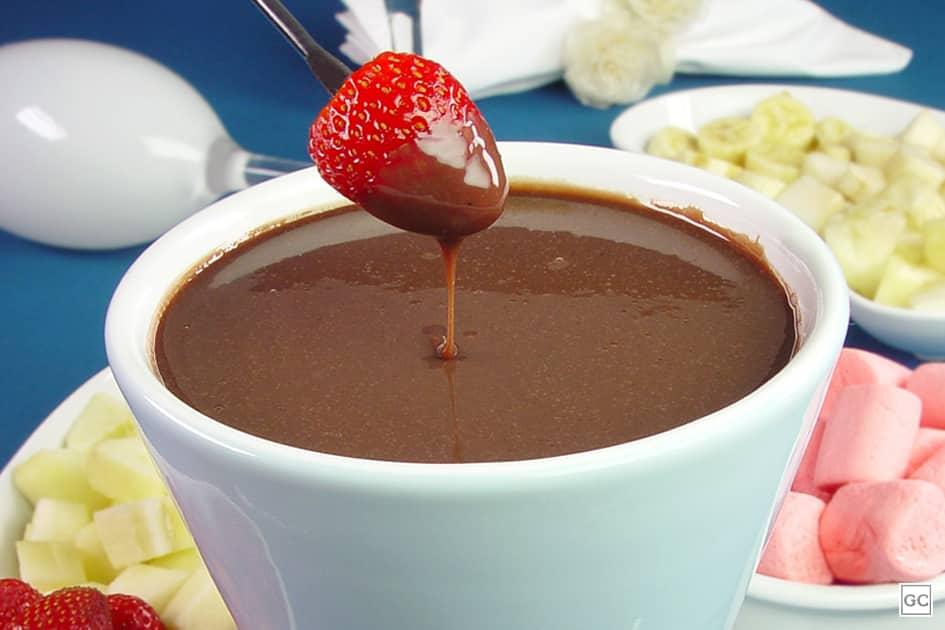 receitas de fondue de chocolate