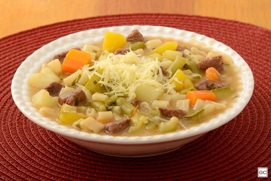 receitas de sopa de carne e legumes