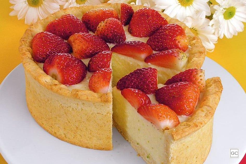 receitas de torta de morango