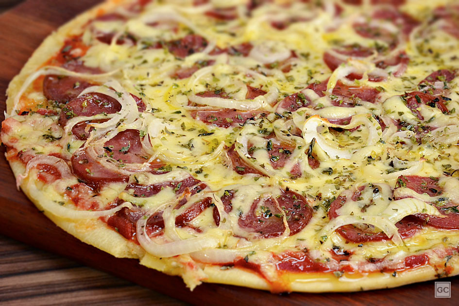 receitas de pizza de liquidificador