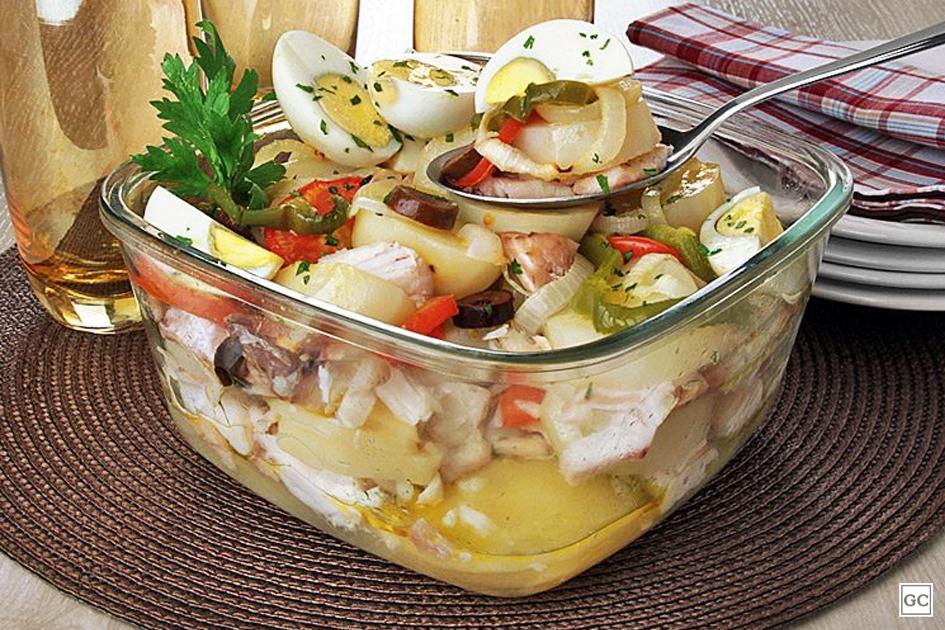 Bacalhoada portuguesa deliciosa