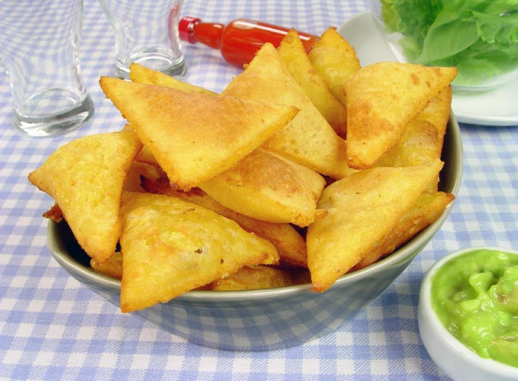 Receita de guacamole e tortilla de queijo