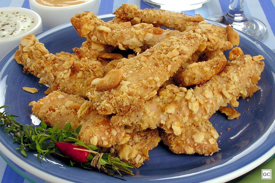 Receitas de bife e frango em tiras